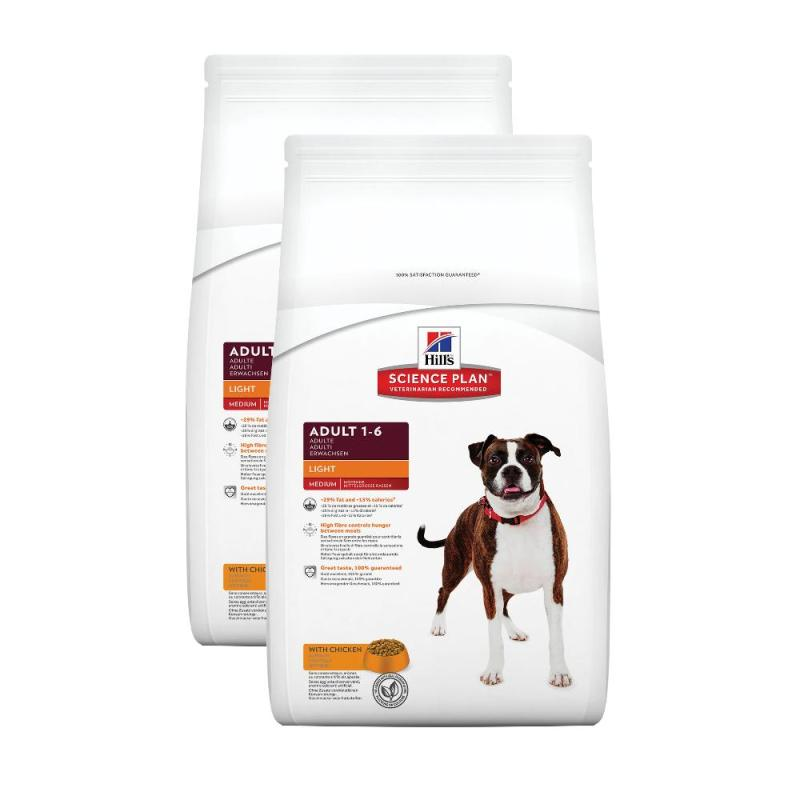 Sparpack! Hill's Canine Adult Light Huhn | 2 x 12kg