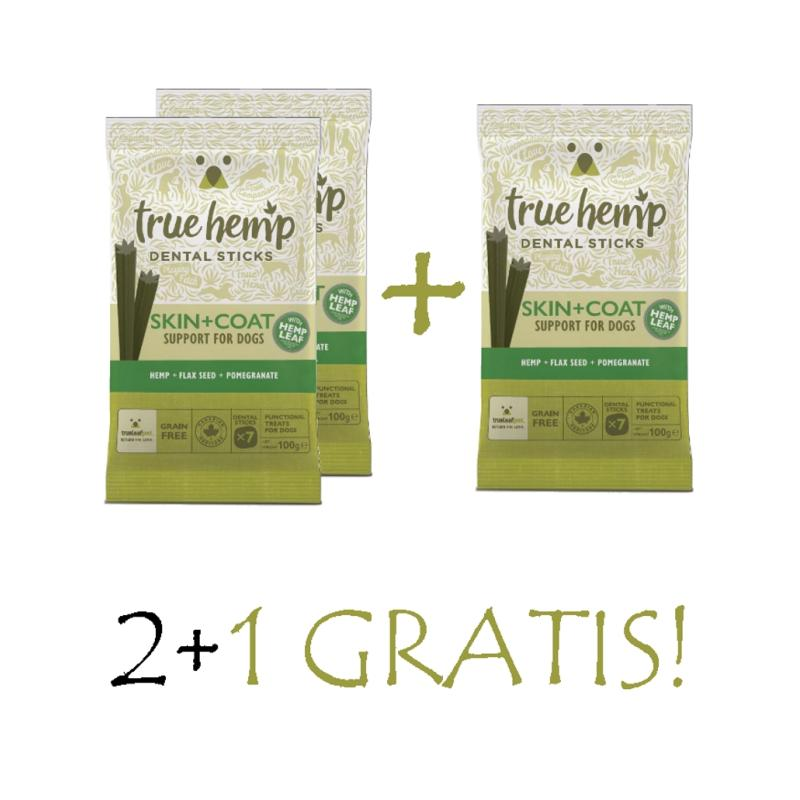 Sparpack! True Hemp Dental Sticks | Skin & Coat 3x100g