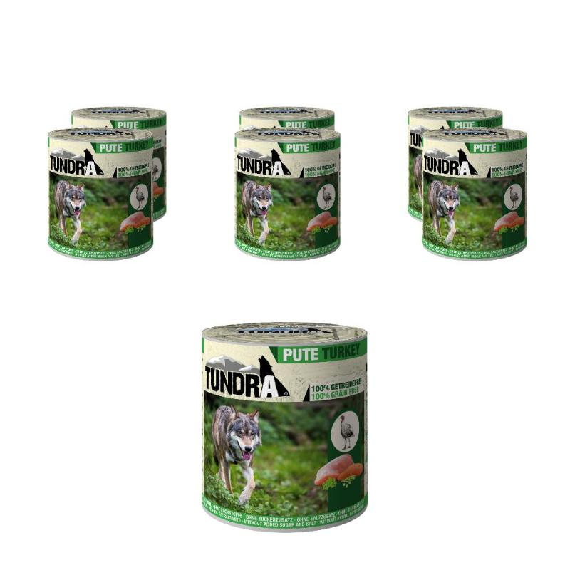 Sparpack! 5 + 1 gratis! Tundra Dog Pute | 6 x 800g