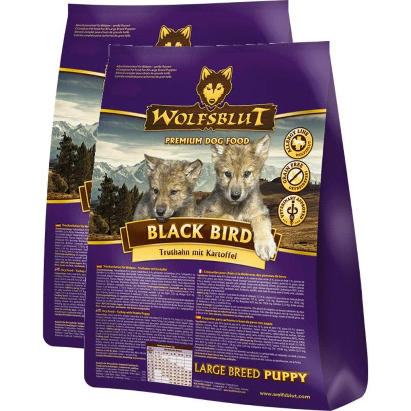 Sparpack! Wolfsblut Black Bird Puppy | Large Breed Truthahn&Kartoffel 2x15kg