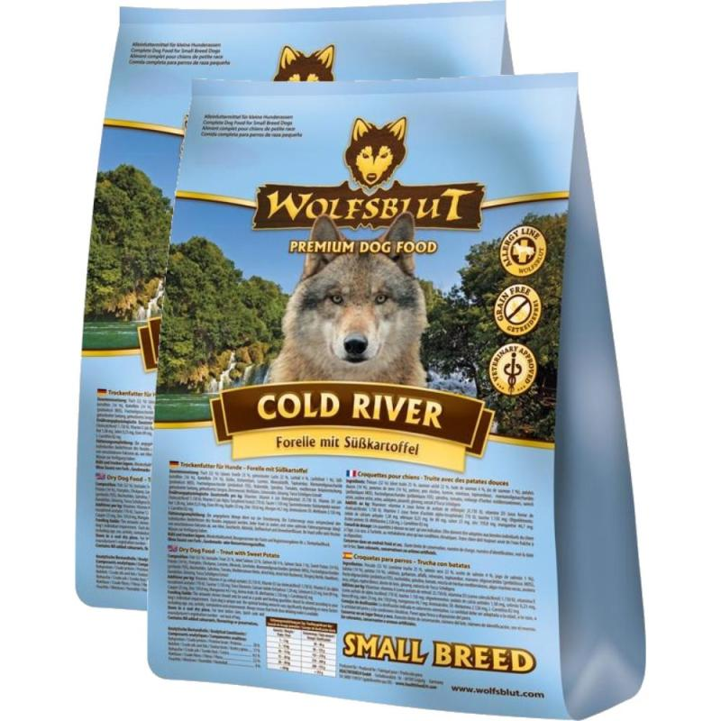 Sparpack! Wolfsblut Cold River Small Breed Süßkartoffel & Forelle | 2 x 15kg